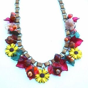 Statement Necklace Vintage Jewelry Autumn Glory